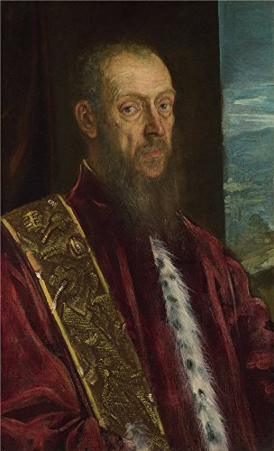 'Jacopo Tintoretto Portrait Of Vincenzo Morosini ' Oil Painting, 10 X 16 Inch / 25 X 42 Cm ,printed On Polyster Canvas ,this Beautiful Art Decorative Prints On Canvas Is Perfectly Suitalbe For Study Artwork And Home Artwork And Gifts
