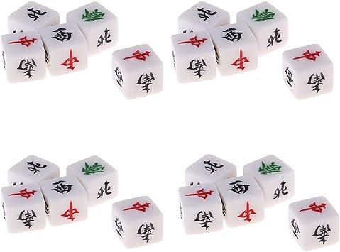 sharprepublic 20x Juego De Mesa Dados Mahjong Este Oeste Sureste Noroeste Dirección Intermedia 6-Die: Amazon.es: Juguetes y juegos