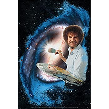 Amazon nature poster by bob ross 24 x 36in posters prints bob ross galaxy painting art print poster 12x18 voltagebd Gallery