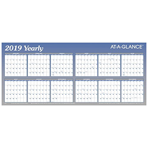 AT-A-GLANCE 2019 Yearly Wall Calendar, 60
