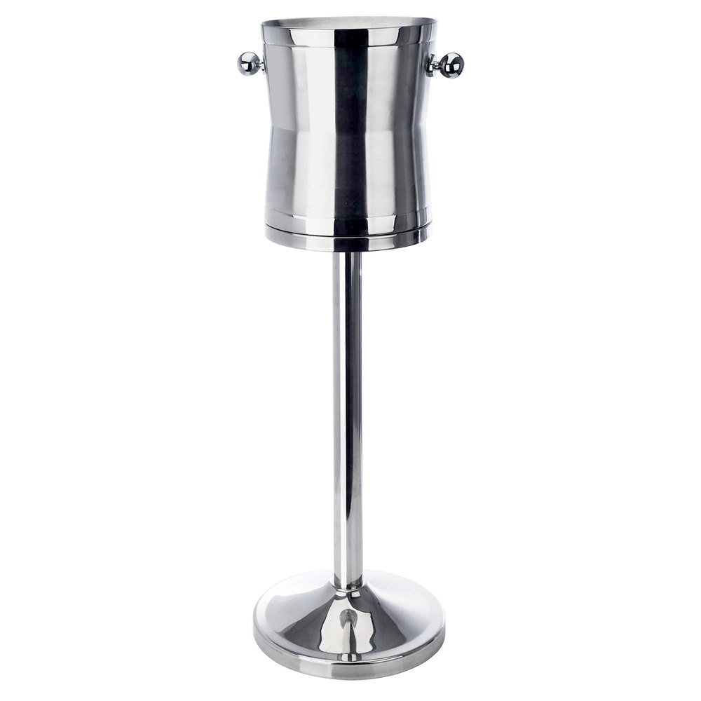 Eastern Tabletop 7950 26'' Stainless Steel Heavy-Duty Wine Stand with Insulated Bucket