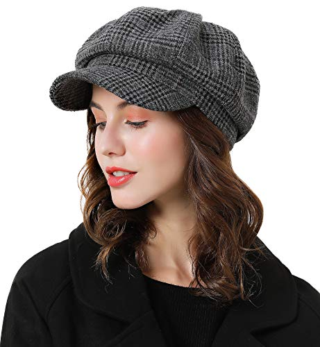 Sumolux Women Beret Newsboy Hat French Cotton Cap Classic Autumn Spring Winter Hats