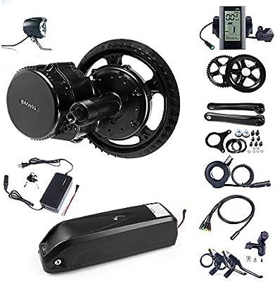 Bafang 8fun - Motor eléctrico para acoplar a bicicleta, tracción central, 48 V, 750 W, 25 A, kit de conversión BBS02, C965, 52T: Amazon.es: Deportes y aire libre