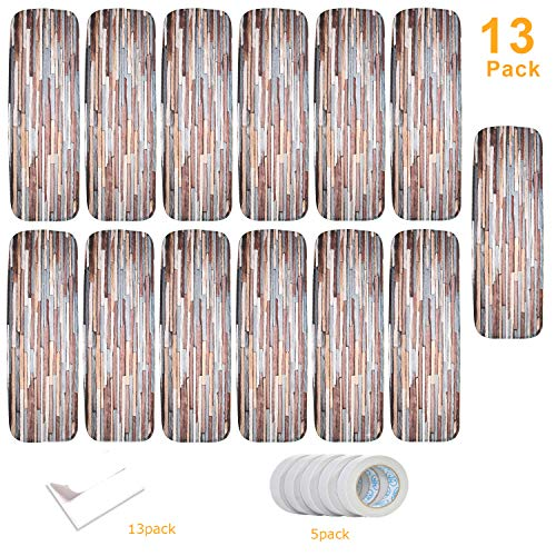 WISEHOME Stone Carpet Stair Treads, Anti-Skid Pet Dog Stairs Rug, Non-Slip Floor Step Mats, Seamless Adhesive Pad 27.5x8.6 inch (Pack of 13)