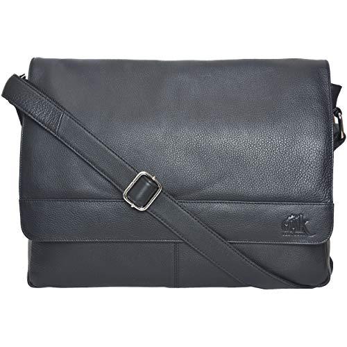Leather Bag Gloves Padded (Leather Laptop Messenger Bag for Men - Premium Office Briefcase 14