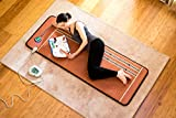 HealthyLine Infrared Heating Mat 72'' x 24'' (Firm) |PEMF 7.83Hz Tourmaline, Amethyst & Obsidian Gemstones | US FDA Registered, Comfy & Portable Pad | For Sore Muscles & Aching Joints