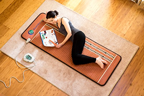 HealthyLine Infrared Heating Mat 72'' x 24'' (Firm) |PEMF 7.83Hz Tourmaline, Amethyst & Obsidian Gemstones | US FDA Registered, Comfy & Portable Pad | For Sore Muscles & Aching Joints by HealthyLine