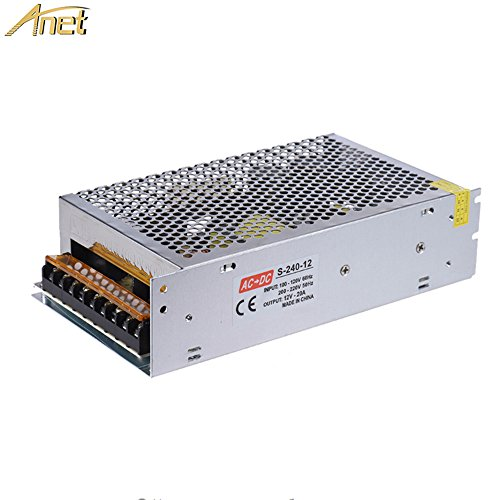220v Dc Printer - ANET Switching Converter, AC 110V/220V to DC 12V 20A 240W Universal Regulated Switching Power Supply Adapter Transformer for A6 A8 3D Printer, LED Strip Lights, Radio
