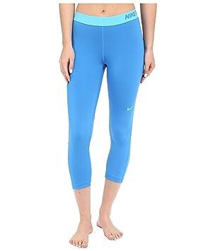 e5421ac1f Nike Pro Cool Capris Light Photo Blue Omega Blue Womens Capri (XL)   Amazon.co.uk  Sports   Outdoors