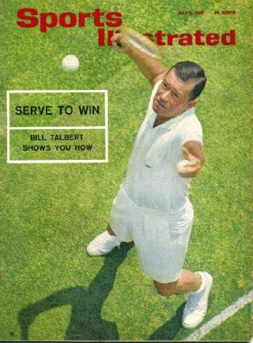Sports Illustrated July 5 1965 Bill Talbert/Tennis on Cover, A Tennis Special, NFL Rookie Stars, Bayard Ashcroft/Harvard, St. Louis Cardinals, Homer Snead/Golf