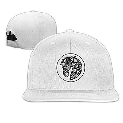 Unisex Horse Head Design Pattern Classic Flat Adjustable Snapback Hats Strapback Hat Cap
