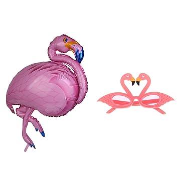 MagiDeal Globo de Lámina de Aluminio Forma de Flamingo Gran ...