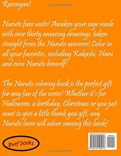 naruto coloring book awaken your sage mode with over thirty amazing drawings volume 1 go with the flo books 9781519194213 amazoncom books
