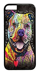 Generic Beware of Pit Bulls Pc Hard Plastic Case For Iphone 6 4.7Inch Coverinch Black
