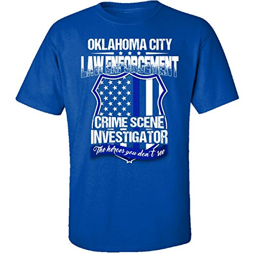 Cool Funky Tees Oklahoma City Crime Scene Investigator Law Enforcement Gift - Adult Shirt ()
