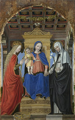 Diva Darling Spa (Oil Painting 'Ambrogio Bergognone - The Virgin And Child With Saints,about 1490' 20 x 32 inch / 51 x 81 cm , on High Definition HD canvas prints is for)