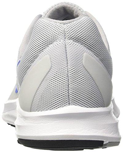 Nike Downshifter 7, Scarpe da Trail Running Uomo Bianco (Blanco / Azul / Gris / Pure Platinum / Hyper Cobalt / Wolf Grey)