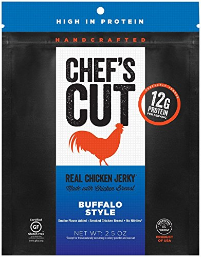 - Chef's Cut Tender Real Chicken Jerky, Buffalo Style, 2.5 Ounce