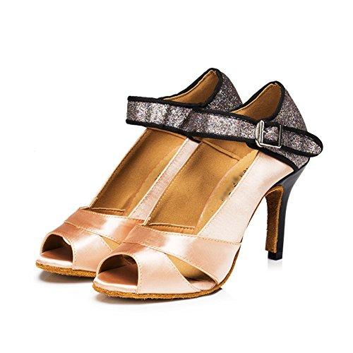 De Mou International Sociale Standard Fond satin Danse Complexion Wymname Womens Danses Chaussures Latine EwqFZ0a