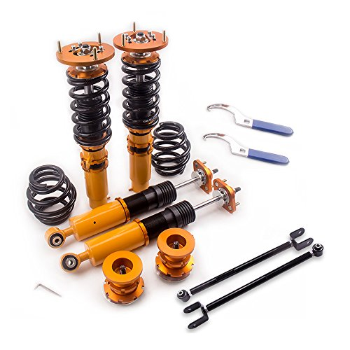 Coilovers with Non-Adjustable Damper and Rear Lower Camber Control Arms for BMW 3 Series E46 316i, 316ci, 318i, 318ci, 320i, 320ci, 323i, 323ci, 325i, 325ci, 328i, 328ci, 330i, 330ci, M3 ()