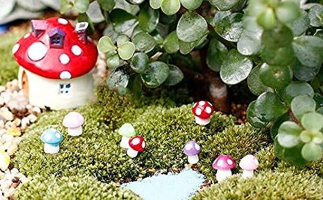 Toadstool House Mini Fairy Garden Micro Dolls House Bonsai Landscape Ornament