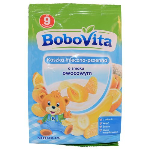Bobovita Instant Wheat Cereal with Fruit Flavor 230g