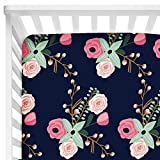#3: Sahaler Baby Floral Fitted Crib Sheet for Boy and Girl Toddler Bed Mattresses fits Standard Crib Mattress 28x52