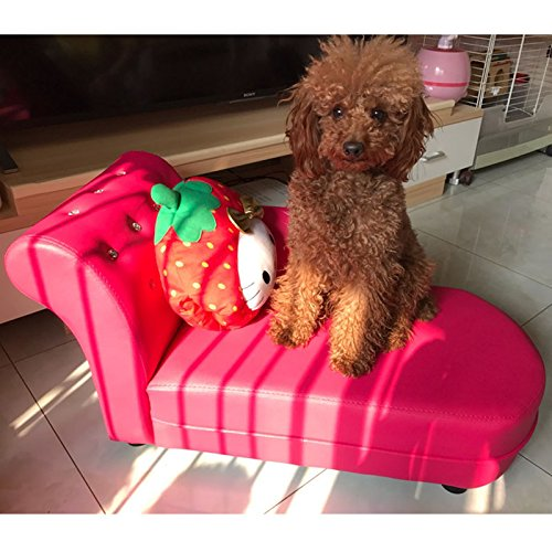 Creation-Core-Luxury-PU-Leather-Rhinestone-Puppy-Dog-Sofa-Bed