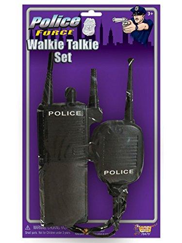 (Forum Novelties Police Walkie Talkie Set, Black, Standard)