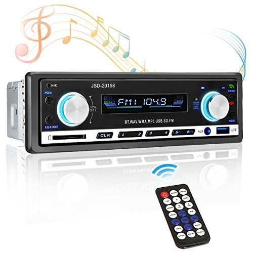 Tvird Car Stereo Receiver,Car Radio Receiver,Single Din,Bluetooth Car Stereo,MP3 Player/USB/SD Card/AUX/FM Radio with Wireless Remote Control