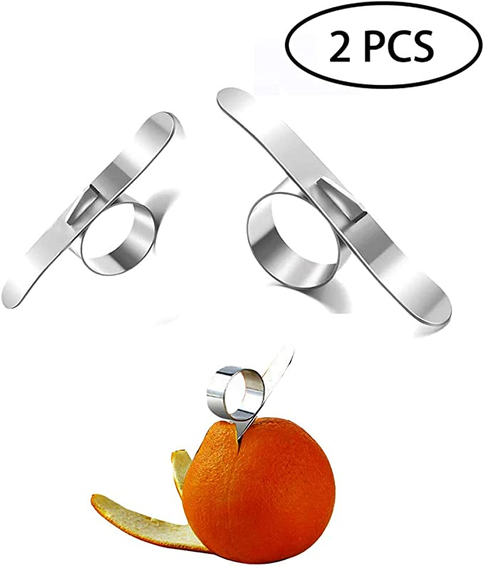 HAILIDA - Pelador de cítricos y cítricos de acero inoxidable para limón y sombra (2 unidades)
