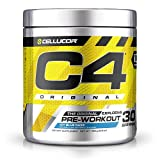 Image of Cellucor C4 Pre-Workout Supplement with Creatine Nitrate and Beta Alanine, Icy Blue Razz, 30 Count