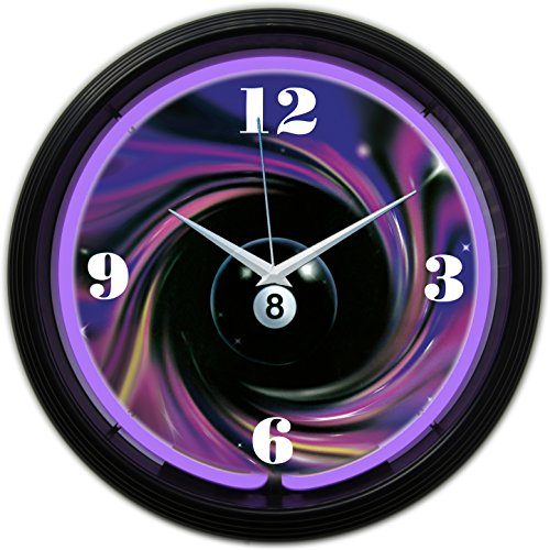 Neonetics 8 Ball Swirl Neon Clock ()