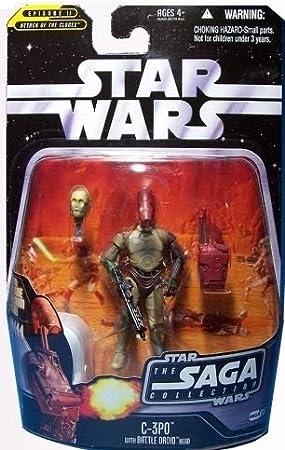C-3PO with BATTLE DROID HEAD STAR WARS SAGA