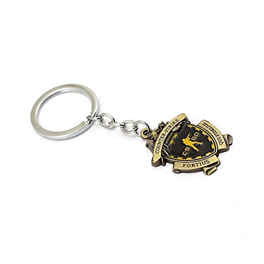 Amazon.com: Game CS GO Medal Keychain Men Metal Counter ...