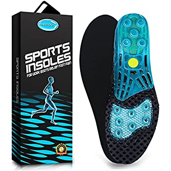 Amazon.com : Spring Loaded Shoe Inserts Insoles for Men