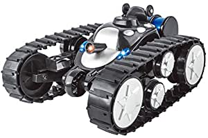 7TECH RC Tank battle Stunt Car, Remote Control Tank with LED Lights Music Transformation 360°Flip Black
