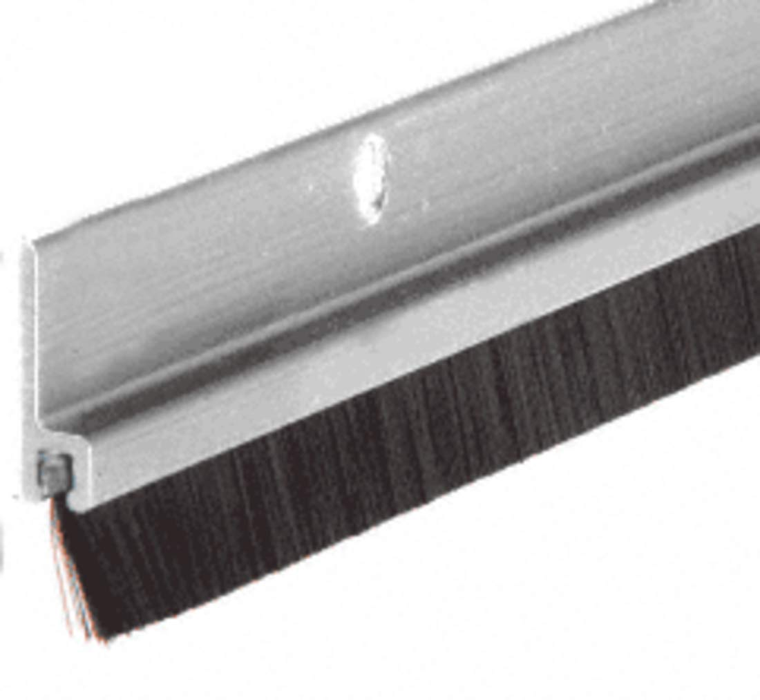 CRL Aluminum and Nylon Door 5/8'' Bristle Weatherstrip - 72'' by CR Laurence by CR Laurence