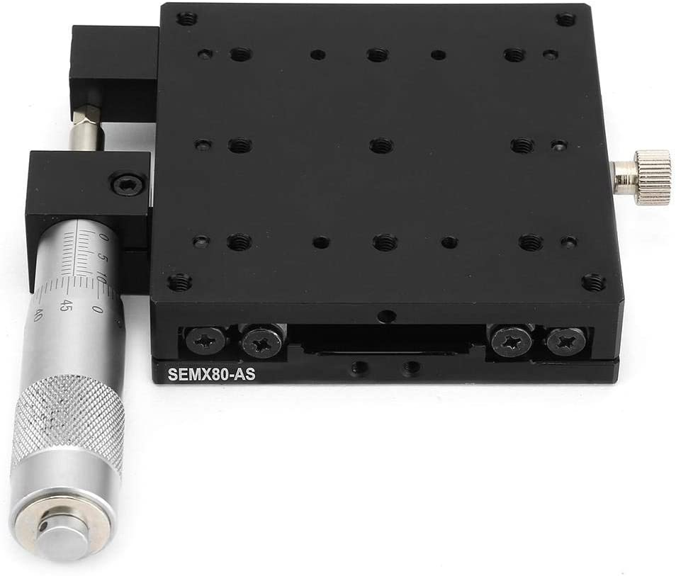 Equipment Positioning etc Yadianna X Linear Stage,SEMX80-AS Micrometer Manual Slide Table Linear Stages Cross Roller Guide 80 80mm for Precision Inspection