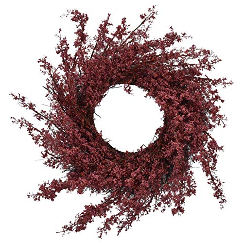 RED DECO Fall Berry Front Door Wreath 22-24 inch, Artificial Floral Red Wreath for All Seasons Home Farmhouse Window…