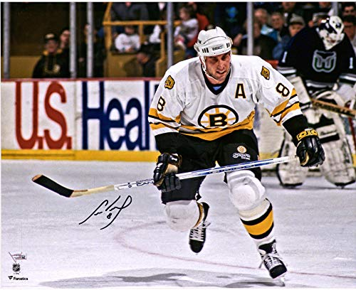 "Cam Neely Boston Bruins Autographed 16"" x 20"" White Jersey Horizontal Skating Photograph - Fanatics Authentic Certified"
