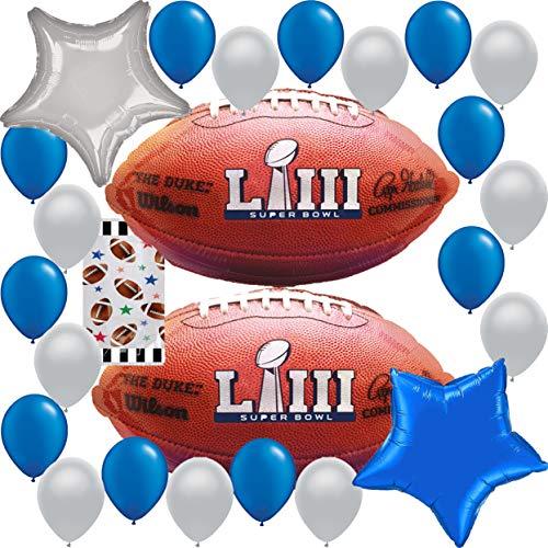 (Super Bowl Party Supplies 2019 Superbowl 53 Decoration : Team NFL Football Sports HUGE Balloon Decorations Bundle)