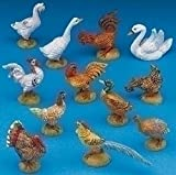 Pack of 2 Fontanini 5'' Barnyard Birds 12-Piece Nativity Animal Sets #51517