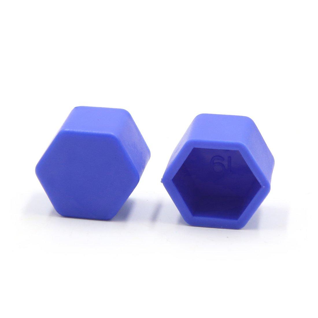 uxcell 20Pcs 17mm Blue Silicone Car Wheel Lug Nut Bolt Hub Covers Screw Dust Caps a17051100ux0625