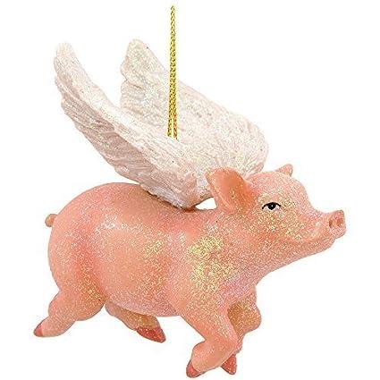 Kurt Adler Resin Flying Pig Christmas Ornament Objets de ...