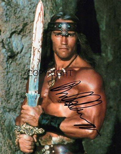 Autogramm von Arnold Schwarzenegger (Conan), limitierte Auflage, mit Zertifikat