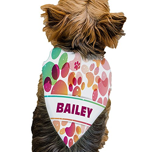 GiftsforYouNow Paw Prints Personalized Pet Bandana