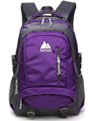 School Backpack BookBag For College Travel Hiking Fit Laptop Up to 15.6 Inch Water Resistant
