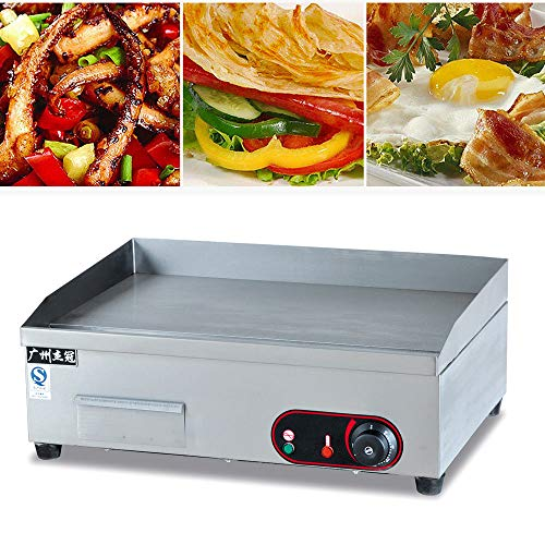 Electric Griddle Grill Machine, Electric Countertop Griddle Flat Top Commercial Restaurant Grill BBQ 3000W Made in China (US Stock)