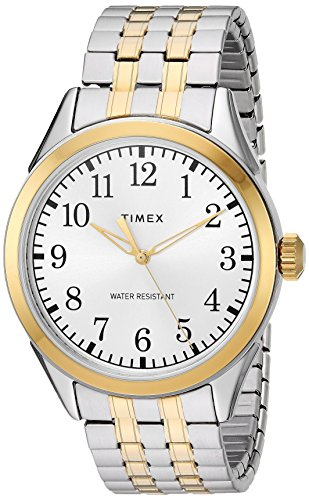 (Timex Men's TW2R48100 Briarwood Two-Tone Stainless Steel Expansion Band Watch)